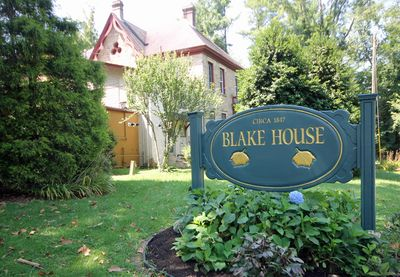 Blake House Sign - This is the sign you'll see when you arrive.