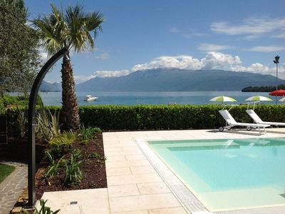 Photo for Villa overlooking the beach and the lake with private swimming pool