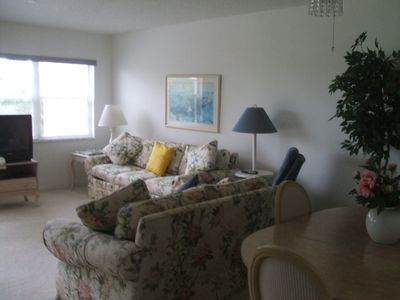 Photo for Lovely and quiet two bed, two bath, Mira Vista condo on Quail Run Golf Course