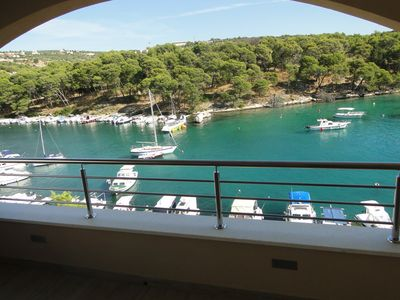 Photo for Holiday apartment first row to the sea overlooking the sea