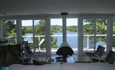 Photo for Lake House perfect for 2 families; luxury, lake ft away