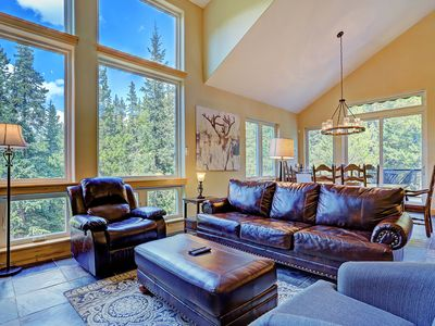 Photo for FREE SkyCard Activities - Mountain & Creek Views, Private Hot Tub, Gas Fireplace - Twin Creek Lo