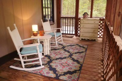 Screened front porch.