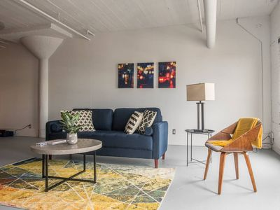 Photo for Bold + Open 1BR Apt Across From City Museum