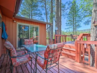 Photo for NEW! Private Pine Cabin w/ Deck & Meadow Views!