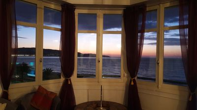 Photo for NICE - Fantastic view apartment in front of the sea, 3 rooms, 100m²