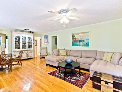 Photo for Pet Friendly Home with Fenced Backyard and Only 2 Blocks To Beach