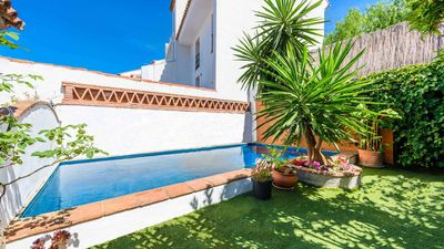 Photo for Spacious, Stylish Hse. Private  Pool, Garden, roof terraces with stunning views