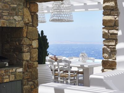 Photo for Azolla Villa Mykonos is a beautiful 6 bedroom villa with infinity heated pool