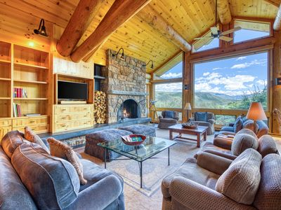 Photo for Dog-friendly home w/ mountain views, fireplaces, hot tub, & fitness room