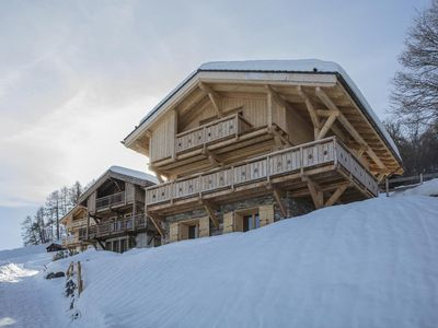 Photo for Superb 4* Chalet, decorated with wood and stone inside, between the chairlift of Les Masses and the