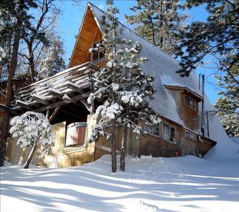 Photo for Walk to Lift - Cabin in the Trees - Ski Slope View-Hot Tub!
