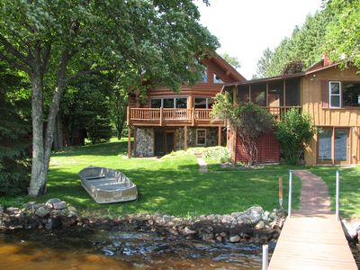 Photo for Northwoods Log Home With 2nd Home. Cisco Chain Area