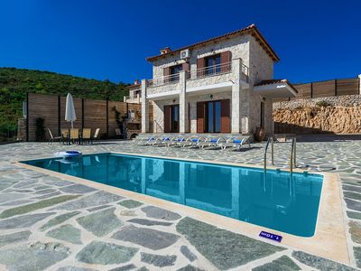 Photo for Villa Simos - Beautiful New Villa with A/C and Private Infinity Pool at only 300 Meters from the Beach ! - Free WiFi