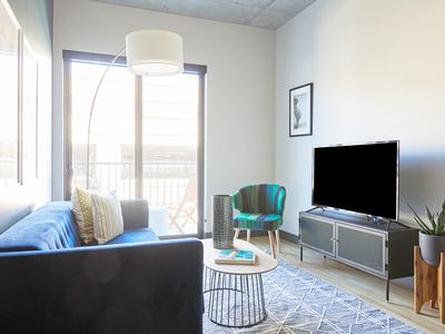 Photo for Sonder | Mill Ave | Modern 1BR + Sofa Bed
