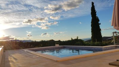 Photo for Stylish villa ***** with heated pool and sea views, free Wi-Fi