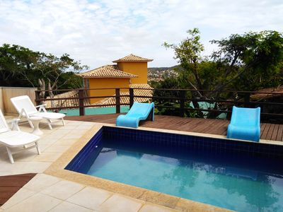 Photo for House in Ferradurinha with pool and sea view