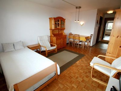 Photo for Studio A1, 1st floor, 28m2, 2 people. 1 Living room with 2 pull-out beds, cable TV-radio, kitchenett