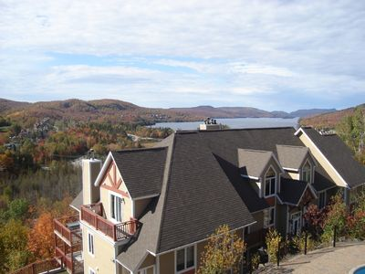 Photo for Ski-in/Ski-out  Condo, WIFI,  Spectacular View of Lac Tremblant, Good Rates