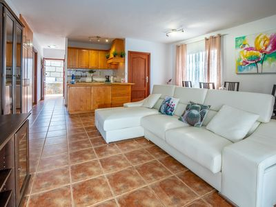 Photo for Spacious Villa Rosa apartment in Callao Salvaje with WiFi, private terrace & jacuzzi.