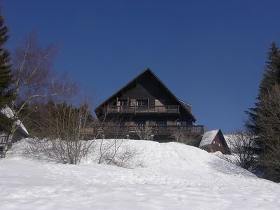 Photo for Large 11-bed family chalet in Super-Besse resort center