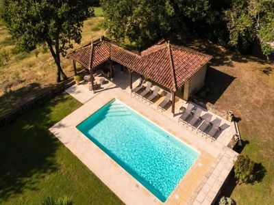Photo for Chalet with private pool in Peyrusse-Grande - Chalet 7 Rooms 12 people