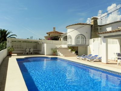 Photo for VILLA, stunning sea view, private pool HEATED, AIR CONDITIONING, luxury, Internet