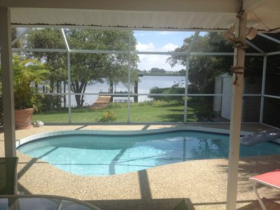 Photo for Waterfront Bay Home, Pool/Dock, 2 bd/2 Bath, 3 minute walk to the Beach!