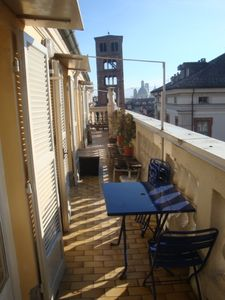 Welcome to the lovely terrace overlooking all main historical buildings of Turin