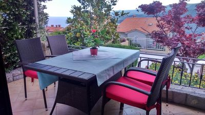 Photo for One bedroom apartment with terrace and sea view Rabac, Labin (A-7442-d)
