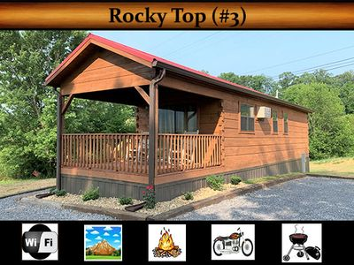 "Photo for ""Rocky Top (#3)"" - Mountain View / Wifi / Fire Pit / Grill / Motorcycle Friendly"