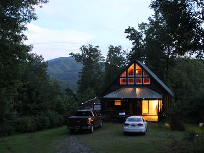 Photo for Cabin on Ridge Top, Awesome Views, Hot Tub & Privacy Near Hot Springs