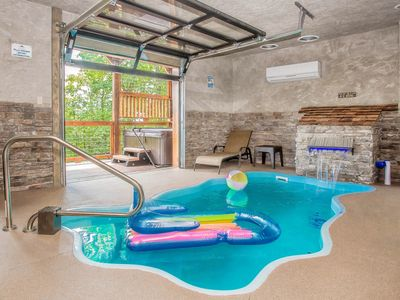 Photo for Free Attractions!  Pool Cabin Amazing Views. Space needle fireworks from deck