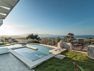 Photo for Faidra Seaview Villa With Heated Pool In Chania Crete
