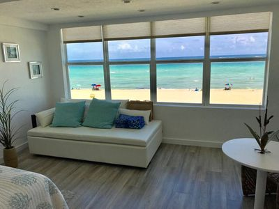 Photo for On the Sand with Spectacular Direct Ocean Views! Walk to Broadwalk!