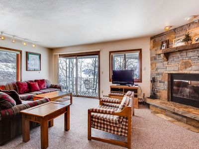 Photo for 2Br/3Ba- View of Mt Crested Butte & Fireplace
