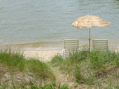 Photo for *BEACHFRONT ** 25 STEPS TO BEACH * KAYAKS ** Aug 3 to 10 last summer vacancy