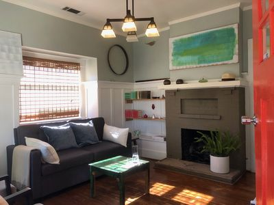 Photo for 2 BR 1.5  BA Quaint SB Cottage Steps From State St. 10 min walk 2Beach&FunkZone
