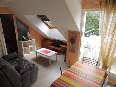 Photo for Nice apartment very well equipped with secure 30m² balcony and garage