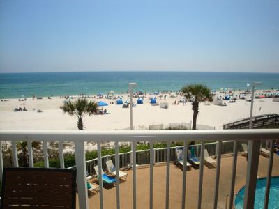 View of beach from the balcony