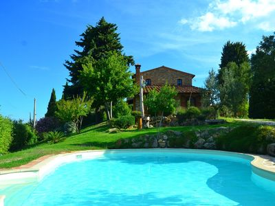 Photo for Old farmhouse renovated with taste in the splendid green hills of Pisa.