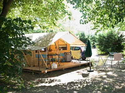 Photo for Camping Huttopia Lake Carcans ** - Classic Tent 3 Rooms 4 People