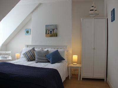 Photo for Harbour Loft -Cosy, Bright Top Floor Apartment One Minute From Beach