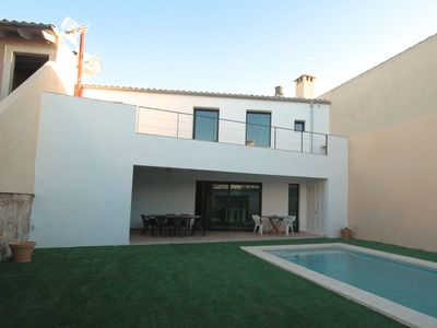 Photo for Complete house in Sineu's center. 2 floors and  & a patio with a pool. Spain