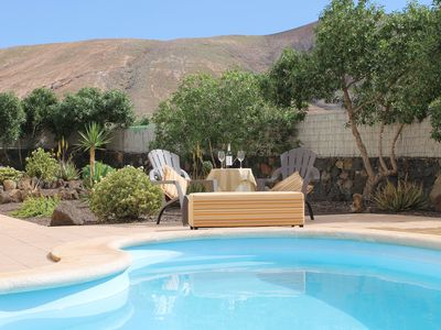 Photo for Large,Peaceful & Private villa in a Canarian village with heated pool and WiFi.