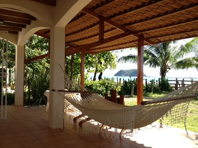 Photo for Two Story Beachfront House in Playa Samara - Steps to the Warm Ocean, with Wifi