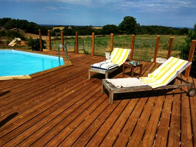 Photo for Old Tobacco Barn luxury French country retreat with pool, hot tub and views