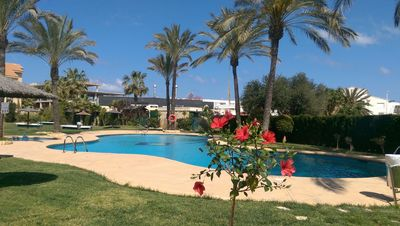 Photo for Lovely 2 bedroom apartment with big private terrace near the Arenal beach