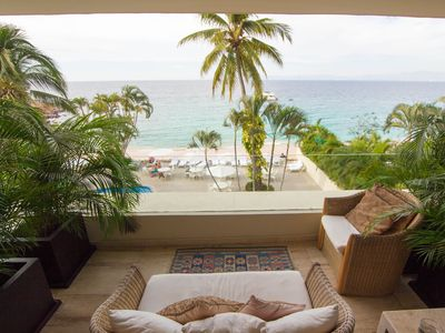Photo for 3 Br condo with direct access to the sandy beach.