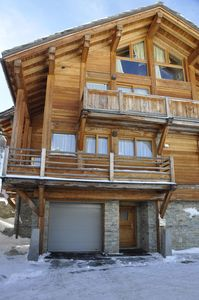 Photo for prestigious chalet on the slopes, sleeps 8